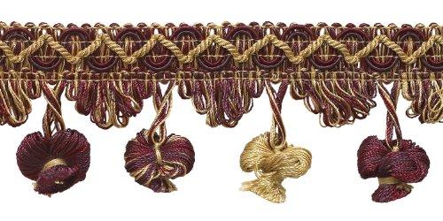 Taupe, Wein 5,1cm Imperial II Zwiebel Quaste Fransen Stil # nt2503Farbe: taupe Wein-4466(Verkauft von der Hof) -
