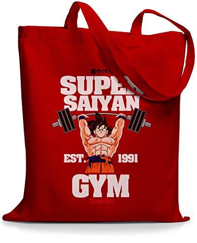StyloBags Jutebeutel / Tasche Super Saiyan Gym est. 1991 Rot