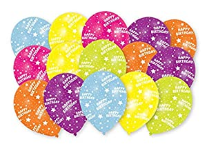 amscan 9905019 Happy Birthday - Globos de látex (15 Unidades)