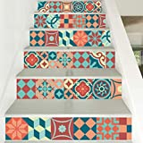 HONGLIKreative Fliesen Schritt Wandaufkleber Dekoration Aufkleber DIY Treppe Aufkleber wasserdicht Abnehmbare Aufkleber