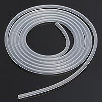 Takestop® Tubo Transparente Blanco Acrílico 8mm x 10mt Tubo Cable flexible para aereatori Aire Agua Acuario Estanque Bomba Filtro líquidos
