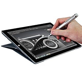 Navitech Silver Fine Point Digital Active Stylus Pen Compatible With Aluratek CINEPAD