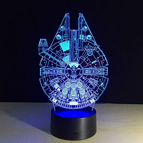 BFMBCHDJ 3d lampe 7 farbwechsel fernschalter kleine nachtlicht led induktionslampe farbige lichter atmosphäre lampe schlafzimmer licht für geschenk