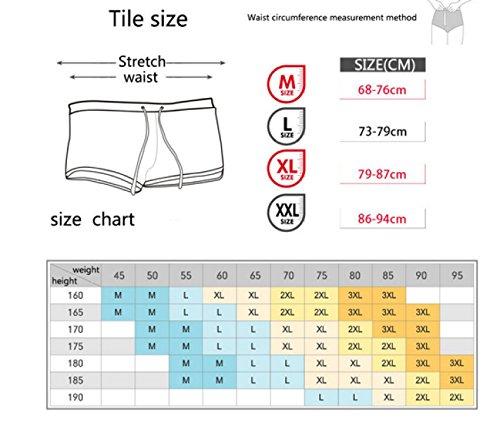 KUWOMINI.Front Tasche Schwimmer Männer Mode Reißverschluss Design Strand Fünf Badeanzug Flach Badehose Black