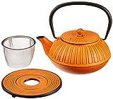 ja-unendlich JW1.0l-9151 Eisenkanne, orange