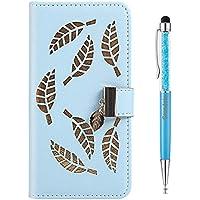 Grandoin Funda para Samsung Galaxy S9, PU Cuero Case Cuerpo Completo Carcasa Protectora Cartera Soporte Plegable Función Fundas Case Cover (Azul)