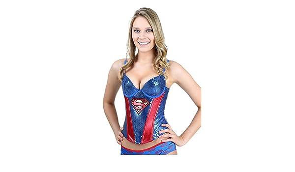 Superman Sequin Corset