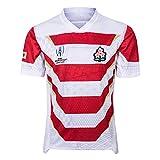 AFDLT T-Shirt de l'équipe du Japon, Polo, Fans Polo, Coupe du Monde de Rugby 2019, Maillot Polo de Football Japon, Maillots de Compétition,White,L