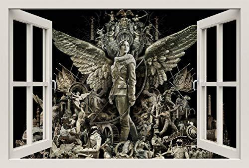 Unified Distribution The Hunger Games Catching Fire - Wandtattoo mit 3D Effekt, Aufkleber für Wände und Türen Größe: 92x61 cm, Stil: Fenster (Hunger Games Dekorationen)