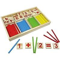 Kentop Matemáticas Juguete de Madera números Aprendizaje con Rastrillo de Varillas Educativos Juguete Barras Aritméticas para Niños a Partir de 3 años