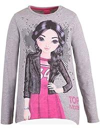 Top Model Mädchen Langarm Shirt Cindy 85042 grau melliert