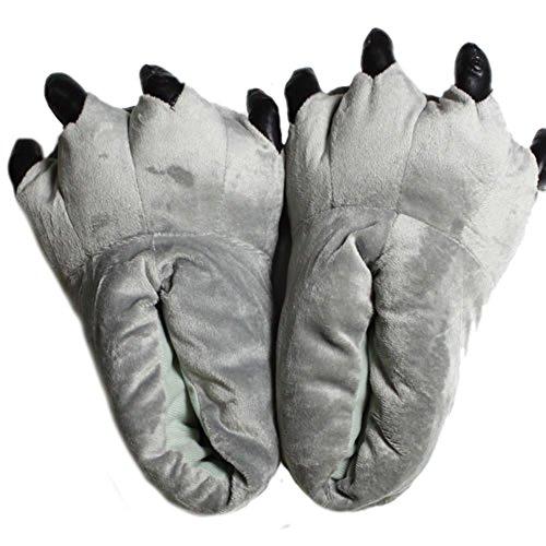LATH.PIN Animale Cosplay Zampa Artigli Scarpe Halloween Costume Peluche pantofole Scarpe 005