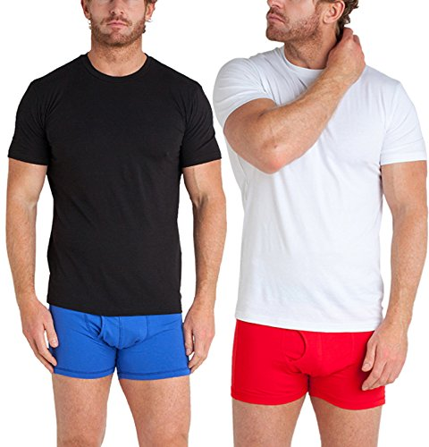STÓR - T-shirt in filo di Bambù [Pacco da 2] - Maglietta antibatterica in Bambù e cotone ecologico - Assorbente e Traspirante
