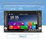 Double Din Car Stereo with Car GPS Navigation Map in Dash 6.2inch Car CD DVD Video Player Autoradio Bluetooth Monitor Headunit Support FM AM 3D GPS USB SD Subwoofer Radio Receiver Auto Audio Car Player Stereos System with IR Camera