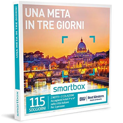 Smartbox - cofanetto regalo - una meta in tre giorni - 115 soggiorni in hotel best western 3* o 4*