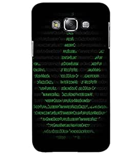 SAMSUNG GALAXY GRAND 3 TEXT Back Cover by PRINTSWAG