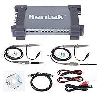 Hantek PC USB2.0 Almacenamiento Digital 6074BD Osciloscopio 70MHz Ancho de Banda 1GSa/s Analizador de 4 Canales en Tiempo real Almacenamiento de Osciloscopio Lógico con Sondas Osciloscopio