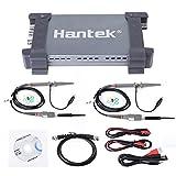 Hantek Oszilloskop, PC USB2.0 Digital Speicher 6074BD 4 KanäleLogic Analyzer, 70 MHz Bandbreite 1GSa/s Echtzeit-Sampling Portable Digital Storage Oszilloskop mit Oszilloskop Sonden