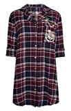 Harry Potter Offiziell Damen Nachthemd Property of Hogwarts Damen Kariert Nachthemd GRÖSSEN XS-XXL - Multi, (UK 10-12 / EUR 38-40 / USA 6-8 / IT 42-44)