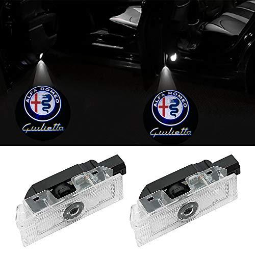 Car Door Welcome Lights-2Pcs High Definition logo LED proiettore ombra ShadowCortesia Benvenuto Ghost Light