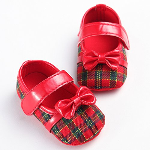 leap frog  Plaid Mary Jane, Baby Mädchen Lauflernschuhe Rot
