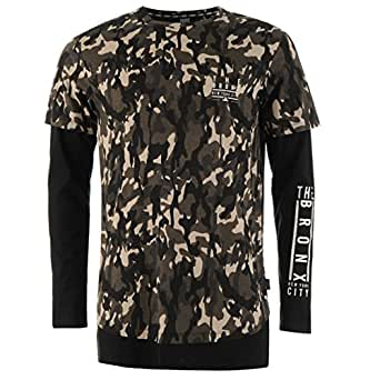 Fabric Mens Long Sleeve Top T Shirt Round Neck Lightweight