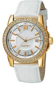 Esprit Damen-Armbanduhr XS Sunglow Gold White Analog Quarz Edelstahl ES101862006