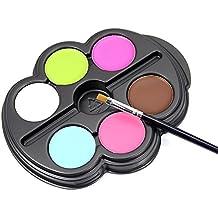 CAN_Deal 6 colores de pintura Pigment cuerpo teatro/payaso/Maquillaje Décor Halloween/color Facial pintura de aceite maquillaje Body Painting Deguisement