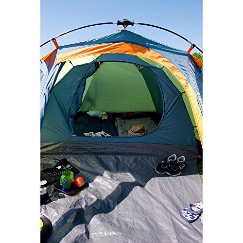 Coleman Fast Pitch Drake, Zelt 4 Personen, 4 Mann Zelt, Igluzelt, Festivalzelt, leichtes Kuppelzelt mit Vorzelt, eine Schlafkabine, wasserdicht WS 3.000 mm - 6