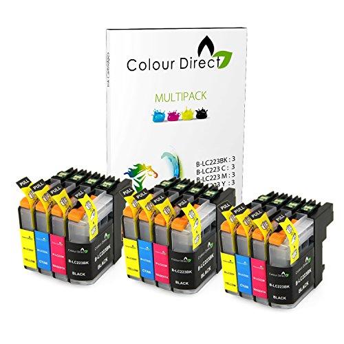 12 Colour Direct LC223 Compatible Cartuchos de tinta Reemplazo Para Brother DCP-J4120DW, MFC-J4420DW, MFC-J4620DW, MFC-J4625DW, MFC-J5320DW, MFC-J5620DW, MFC-J5625DW, MFC-J5720DW impresora