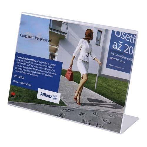 Tischaufsteller A4 L-Ständer Querformat Acryl Aufsteller Werbeaufsteller Tischständer Tischaufsteller A4 -