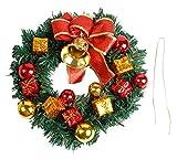Lukis Weihnachtskranz Türkranz Adventskranz Tannenkranz Weihnachtsdeko Verschiedene Größe Bunt Durchmesser 30cm
