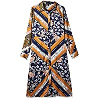 ميلا لندن فستان فستان بنمط قميص للنساء ، مقاس 12 UK ، متعدد الالوان ، ML4694