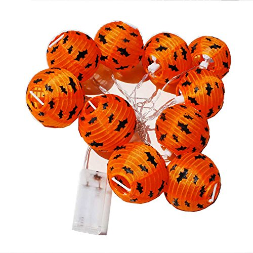 Halloween 10 flammig LED Lichterkette ArtNr 79891 (Orange-net-lichter Halloween)