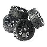 powerday® 4pcs 17mm Hub rueda llanta y neumáticos neumáticos para 1/8Off-Road RC Buggy de coche HSP