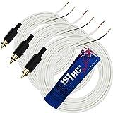 3 x 6 m Cables de altavoz enchapados en oro 5.1 Bose Acoustimass Lifestyle Surround Sound Cube 10 15 18 28 48 RCA Sistemas de altavoces satélite con extremos pelados (3 x 6 metros, blanco)