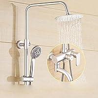 BY-La casa moderna, rotondo di alluminio spazio doccia rubinetto set, elevando fiore doccia, doccia a mano ABS elegante