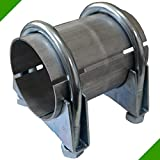 60x100 Rohr Reparaturrohr Rohrverbinder Auspuff Auspuffanlage Schellen