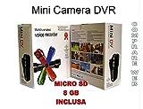 MINI VIDEOCAMERA DIGITALE DV + SD 8 GB MICRO TELECAMERA SOFTAIR AUTO