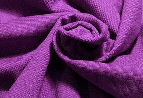 MIRABLAU DESIGN Stoffverkauf Baumwolle Jersey Piqué lila fuchsia (1-033M), 0,5m - Lila Baumwoll-piqué