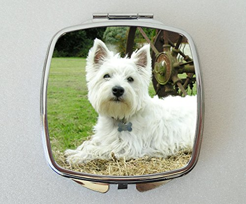 Starprint Sublimation West Highland Terrier Blanc Miroir de Poche Fantaisie Cadeau