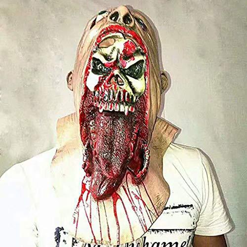 DZZLXY Halloween Erwachsene Horror Maske, Cosplay Latex Kopf Kostüm Gummi Biochemische Monster, Party Witze Spielzeug für - Einfach Paar Disney Kostüm