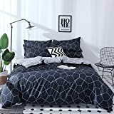 FANSU Bettbezug-Sets, 3pcs Bettwäsche-Sets , Trendy Check Plaid Design-Stil , Fibre Soft Zipper Pillowcase Protects (220x240cm, abstrakt)