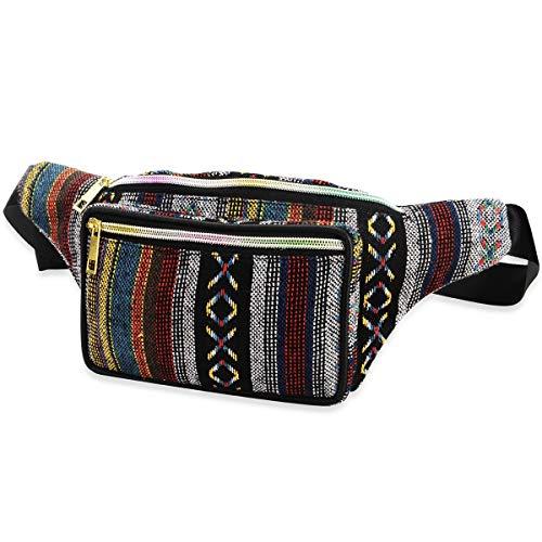 XingYue Direct Boho Ethnic Style Tribal Gürteltasche Outdoor Sports Brusttasche (Color : Color)