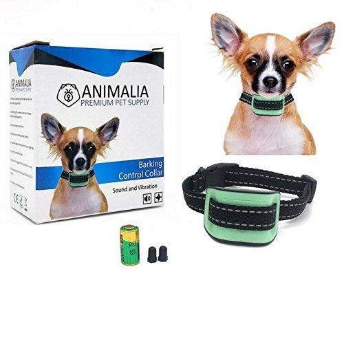 Collar Antiladridos Premium para Perros Pequeños y Medianos de Animalia - Collar de Adiestramiento Para Perros Pequeños - Collar Automático Para Perros - Sin Descarga Eléctrica - Solamente Sonido y Vibración