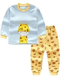 134e50e375 Baywell Kinder Baby Jungen Mädchen Langarm Top T-Shirt Hosen 2 Stück  Kleidung Set Pyjamas Set Sport Casual…