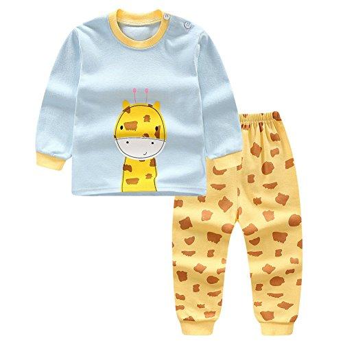 Blaward Zweiteilige Schlafanzüge Langarm für Baby Jungen Mädchen Baumwolle Schlafanzugoberteile Schlafanzughosen Pajama Sets