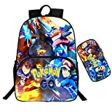 Mochila Pokemon Infantil,Escolar Mochila Pokemon Go Pikachu Mochila De...