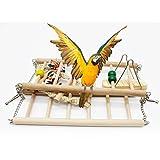 UEETEK Legno animale uccello giocattolo appeso Swing trapezio arrampicata ponte scaletta per parrocchetti uccello pappagallo Calopsitte addestramento dell'animale domestico