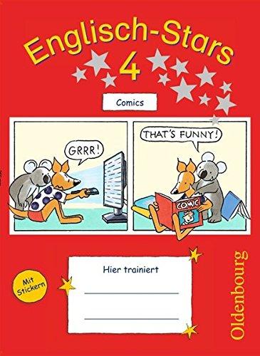 Englisch-Stars - Allgemeine Ausgabe: 4. Schuljahr - Übungsheft Comics: Mit Lösungen